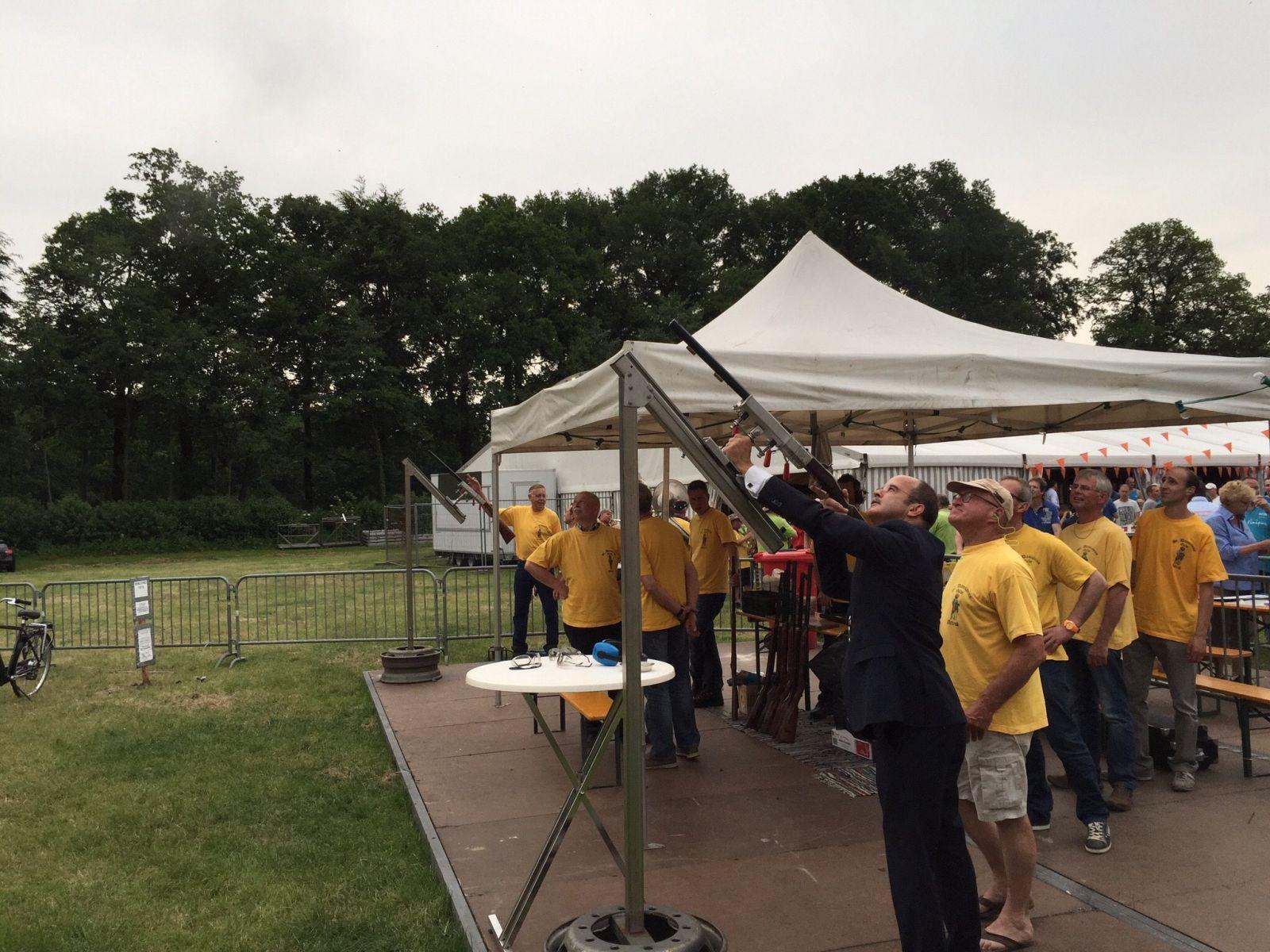 Vogelschieten 2015 – burgemeester van Hedel